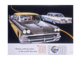 Poster Advertising the Ford Fairlane Car, 1958 Giclee Print
