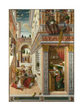 The Annunciation, with Saint Emidius, 1486 Giclee Print by Carlo Crivelli