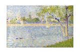 The Seine Seen from La Grande Jatte, 1888 Gicléedruk van Georges Seurat