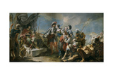 Queen Zenobia before Emperor Aurelian, 1717 Giclee Print by Giandomenico Tiepolo