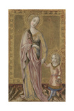 Saint Dorothy and the Infant Christ, Ca 1460 Giclee Print by  Francesco di Giorgio Martini