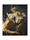Judith in the Tent of Holofernes, C. 1622 Giclee Print by Johann Liss