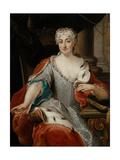 Portrait of Maria Clementina Sobieska (1702-173) Giclee Print by Pier Leone Ghezzi
