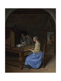 A Young Woman Playing a Harpsichord, C. 1660 Giclee Print by Jan Havicksz Steen