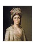 Portrait of Zoie Ghica, the Princess of Moldavia, 1777 Giclée-tryk af Alexander Roslin