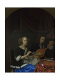 A Woman Singing and a Man with a Cittern, Ca. 1665-1667 Giclee Print by Godfried Cornelisz Schalcken