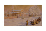 Our House in Ryabovo, 1918-1919 Giclee Print by Appolinari Mikhaylovich Vasnetsov