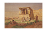 The Erechtheion, the Porch of the Caryatids, 1877 Giclee Print by Carl Friedrich Heinrich Werner