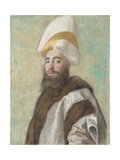 Portrait of a Grand Vizier, C. 1740 Giclee Print by Jean-Étienne Liotard