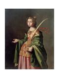 Saint Elizabeth of Thuringia, Ca 1637-1640 Giclee Print by Francisco de Zurbarán
