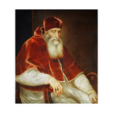 Portrait of Pope Paul III Farnese, 1543 Giclee Print by  Titian (Tiziano Vecelli)