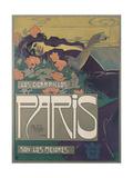 Los Cigarillos Paris, 1901 Giclée-Druck von Aleardo Villa