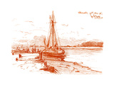 A Sketch at Walberswick, 1899 Giclee Print by George Charles Haite