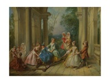 The Four Ages of Man: Childhood, Ca 1735 Giclee Print by Nicolas Lancret