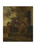 A Pedlar Selling Spectacles Outside a Cottage, C. 1653 Giclee Print by Jan Havicksz Steen