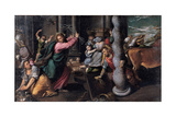 Christ Driving the Money Lenders from the Temple, 1580-1585 Giclee Print by Ippolito Scarsellino