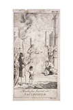 Protestant Bishops Being Burnt at Smithfield, During the Reign of Mary I, 16th Century, (C176) Giclee Print by Samuel Wale