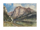 Altaussee Lake and Face of Mount Trissel, 1859 Giclee Print by Rudolf von Alt