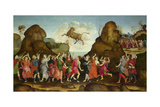 The Worship of the Egyptian Bull God, Apis, C. 1500 Giclee Print by Filippino Lippi