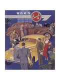 Poster Advertising Buick Cars, 1936 Giclee Print