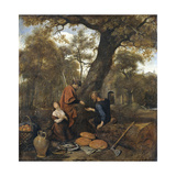 Erysichthon Sells His Daughter Mestra, 1660 Giclee Print by Jan Havicksz Steen
