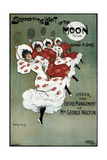 Poster for the George Sims Comedy Skipped by the Light of the Moon, 1896 Giclee Print by Dudley Hardy