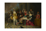 Ladies and Gentlemen Playing La Main Chaude, C. 1655-1665 Giclee Print by Hieronymus Janssens