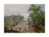 Jeu De Paume before a Country Palace, Ca 1614 Giclée-Druck von Adriaen Pietersz van de Venne