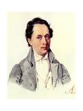 Portrait of Leopold Niemirowski (1810-188), 1843 Giclee Print by Nikolai Alexandrovich Bestuzhev
