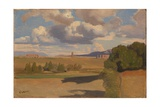 The Roman Campagna, with the Claudian Aqueduct, C. 1826 Giclee Print by Jean-Baptiste Camille Corot