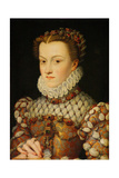 Elisabeth of Austria, Queen of France, Ca 1571-1572 Giclee Print by François Clouet