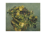Basket of Pansies on a Small Table, 1887 Giclee Print