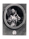 Au Moins Soyez Discret!, 1789 Giclee Print by Augustin De Saint-aubin