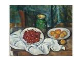 Still Life with Cherries and Peaches, 1885-1887 Giclée-Druck von Paul Cézanne