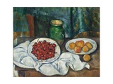 Still Life with Cherries and Peaches, 1885-1887 Giclee Print by Paul Cézanne