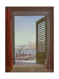 Balcony Room with a View of the Bay of Naples, C. 1829 Giclee Print