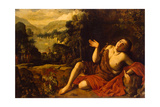 Saint John the Baptist in the Desert, 1630 Giclee Print by Francisco Collantes