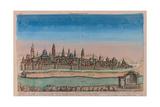 The Jerusalem Map (Ville Capitale De La Palestine Sous David Et Salomon..), 1770 Giclee Print by Louis Joseph Mondhare