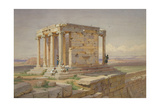 The Temple of Athena Nike. View from the North-East, 1877 Giclee Print by Carl Friedrich Heinrich Werner