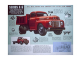 Poster Advertising a Ford Truck Series F-6, 1947 Giclee Print