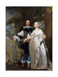 Portrait of a Married Couple in the Park, 1662 Giclee Print by Gonzales Coques