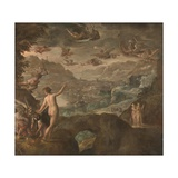 Landscape with the Expulsion of the Harpies, Ca 1590 Giclee Print by Paolo Fiammingo