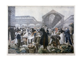 Soup Stand at Les Halles Market in the Morning, 1897 Giclee Print by JJ Rousseau