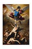 The Fall of the Rebel Angels, C. 1660 Giclée-tryk af Luca Giordano