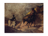 Don Quixote and Sancho Panza, 1866-1867 Giclee Print by Honoré Daumier