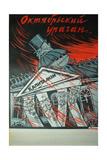 October Hurricane, 1920 Giclee Print by Viktor Nikolaevich Deni