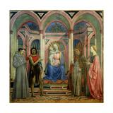 The Santa Lucia De' Magnoli Altarpiece, Ca 1447 Giclée-tryk af Domenico Veneziano