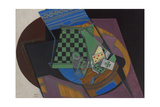 Checkerboard and Playing Cards, 1915 Giclee Print by Juan Gris
