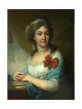 Portrait of Baroness Varvara Vasilyeva, 1800 Giclee Print by Vladimir Lukich Borovikovsky