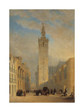 The Giralda Seen from Calle Placentines Giclee Print by José Domínguez Bécquer